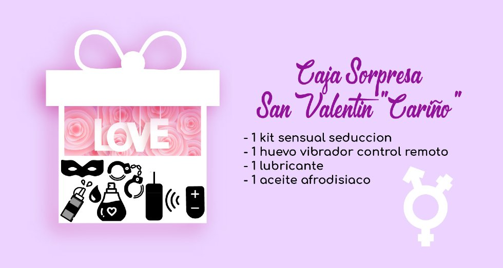 Caja Sorpresa San Valentin Sextoys Carino