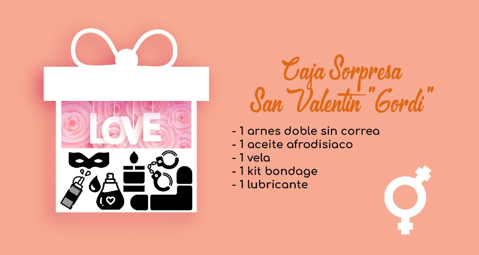 Caja Sorpresa San Valentin Sextoys Gordi